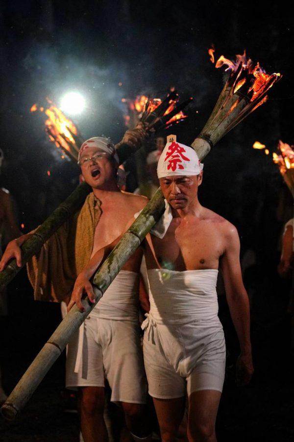 麓山の火祭り
