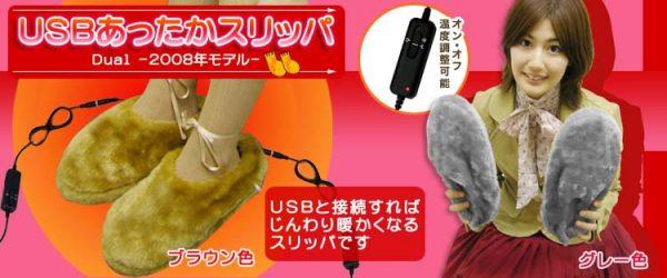 USBあったかスリッパDual