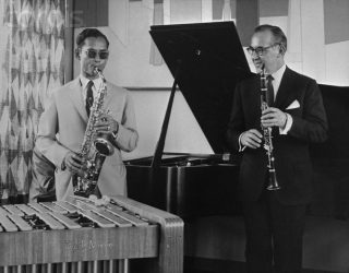 His Majesty King Bhumibol Adulyadej and Benny Goodman in New York 1960